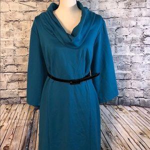 Lane Bryant cowl neck dress.